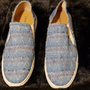 Lucky Brand Slip On Canvas Shoes